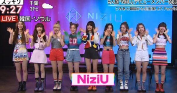 NiziUのメンバーがスッキリに生出演
