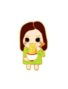 麺を食べるリマのピンバッジ