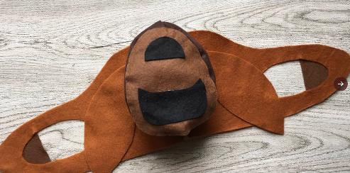 フェルトで作ったナウシカのマスク