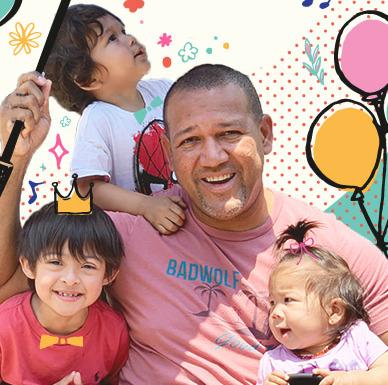 ラミレスと3人の子供たち