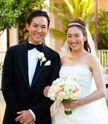 杉山愛と旦那の走の結婚式の様子