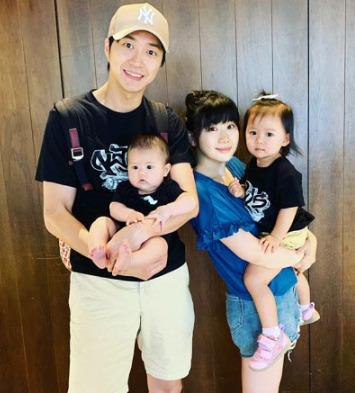 福原愛さんと家族の写真