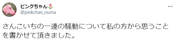 ピンクちゃんのツイート