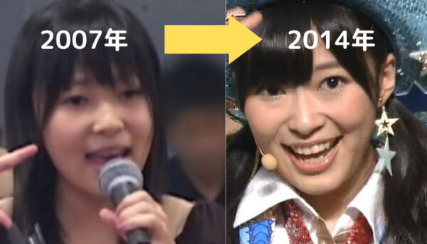 2007年から2014年の指原莉乃の顔変化
