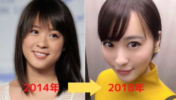 2014年から2018年の北乃きいの顔変化