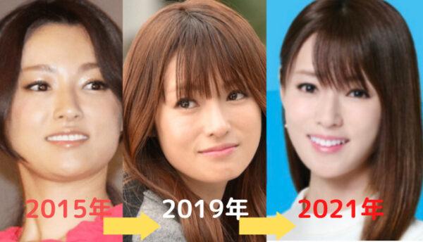 深田恭子が痩せていった比較画像