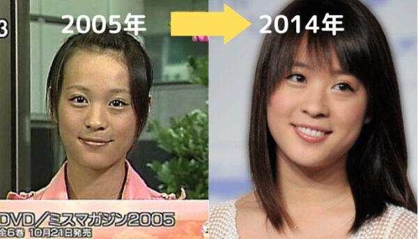 デビューから2014年の北乃きいの顔比較
