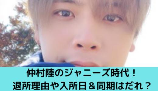 Rちゃんの彼・仲村陸のジャニーズjr.の退所日&理由は?入所日と同期も調査!