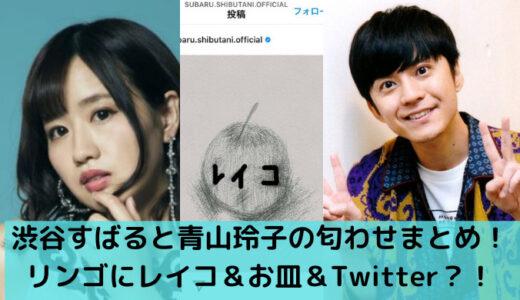 渋谷すばると青山玲子の匂わせまとめ!インスタのリンゴ&お皿&Twitterも?