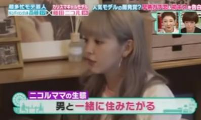 藤田ニコルが母が男と一緒に住みたがることを告白