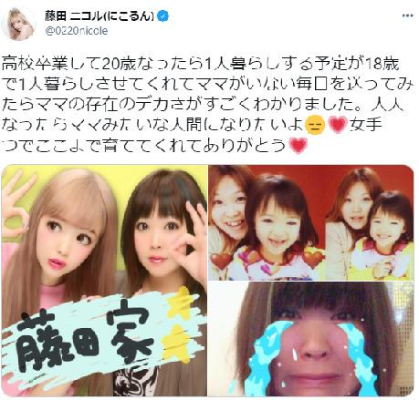 藤田ニコルのTwitter