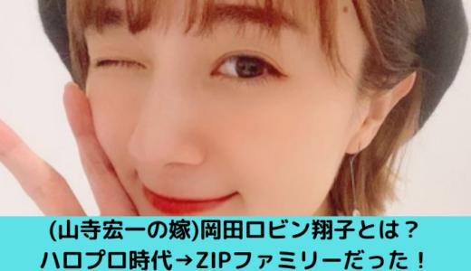 (山寺宏一の嫁)岡田ロビン翔子とは?ハロプロ時代→ZIPファミリーの経歴を紹介!