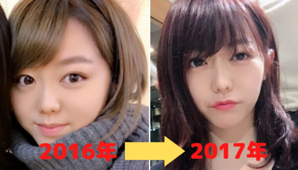 峯岸みなみの顔比較2016年と2017年