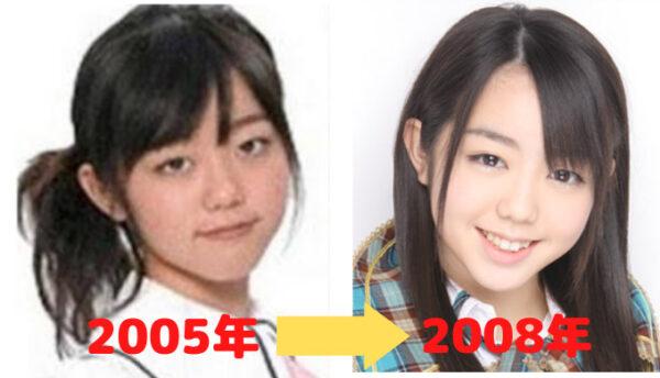 峯岸みなみの顔比較2005年と2008年