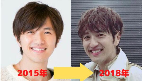 2015→2018年北川悠仁顔比較画像