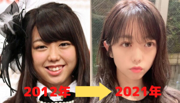 峯岸みなみの顔比較2012年と2021年