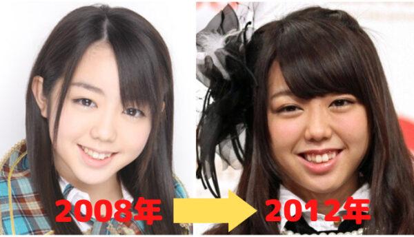 峯岸みなみの顔比較2008年と2012年