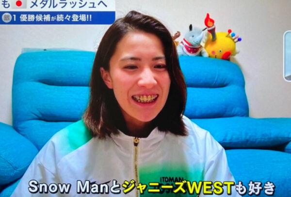 大橋悠依がジャニーズWESTが好きと言っている場面