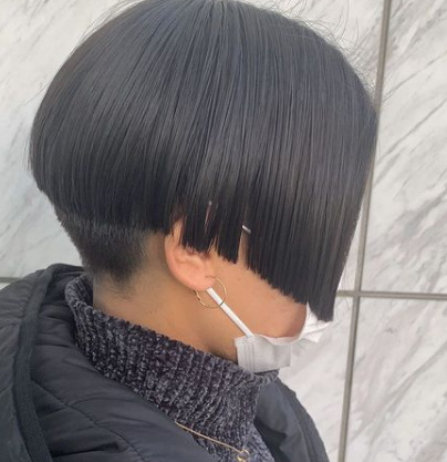 渡名喜風南のマンバンヘア、髪の毛をおろした様子