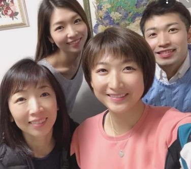 池江瑠璃子と家族