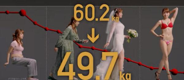 菊地亜美のライザップの体重変化
