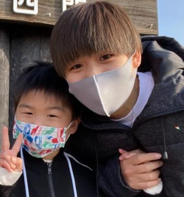町田瑠唯と甥っ子