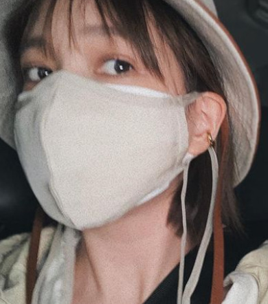 本田翼がマスクを買ったと報告しているインスタ画像