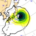10/1ヨーロッパ中期予報センターによる台風16号の進路予想