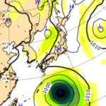 9/29ヨーロッパ中期予報センターによる台風16号の進路予想