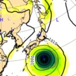 9/30ヨーロッパ中期予報センターによる台風16号の進路予想