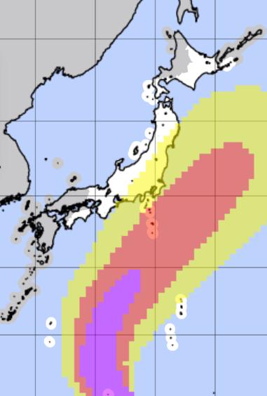 台風16号暴風域に入る確率