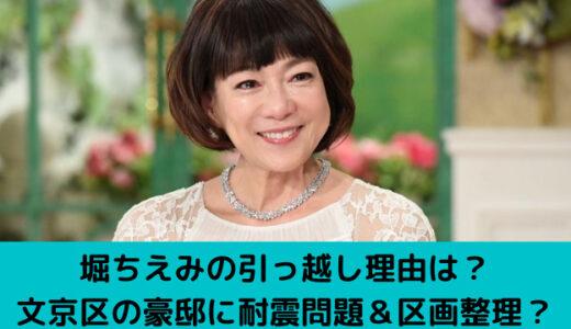 堀ちえみの引っ越し理由は?文京区の豪邸に耐震問題&区画整理?