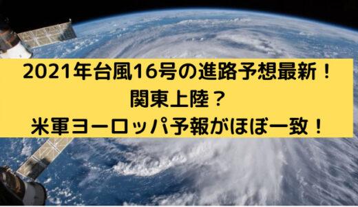 2021年台風16号の進路予想最新!関東上陸?米軍ヨーロッパ予報がほぼ一致!