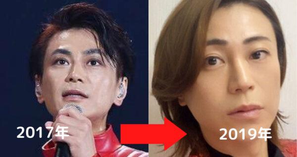 2017→2019年氷川きよしの比較顔画像