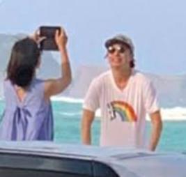 櫻井翔と高内三恵子のハワイ旅行